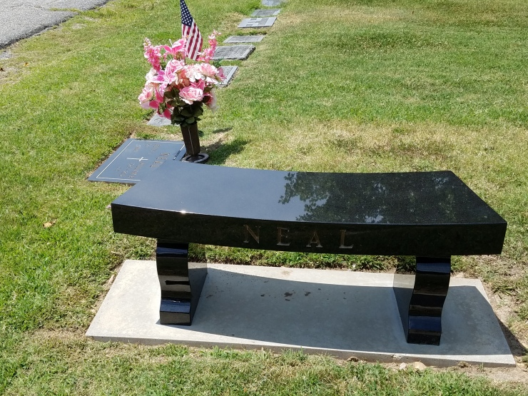 Blk Granite bench